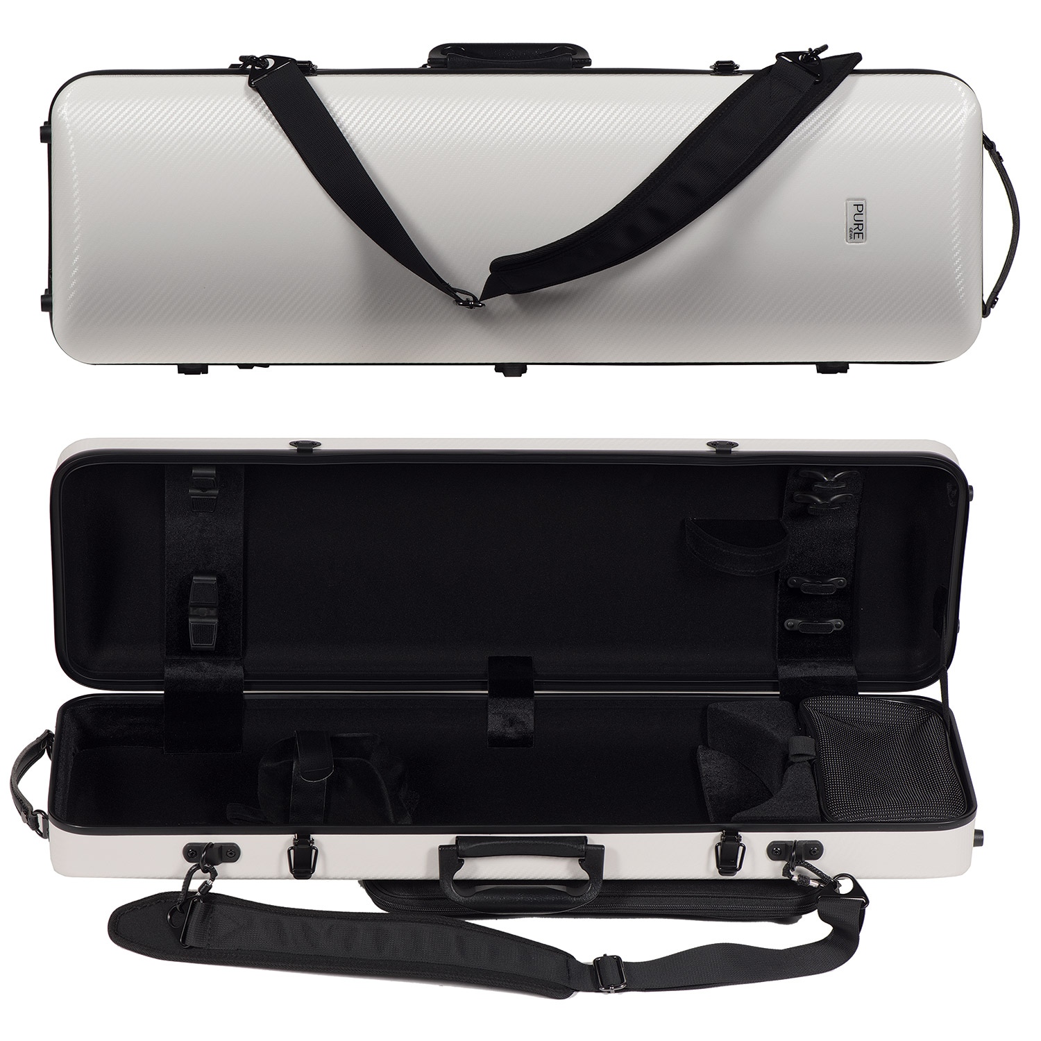 PURE GEWA Form shaped violin case Polycarbonate 1.8 grey for size 4//4