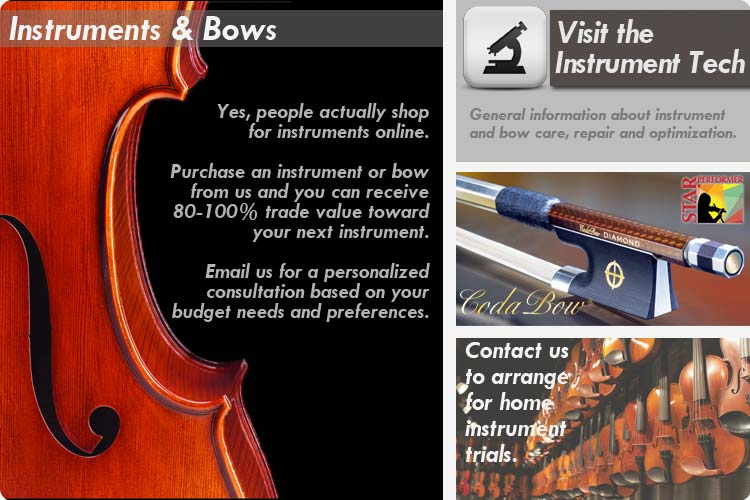 Instruments & Bows